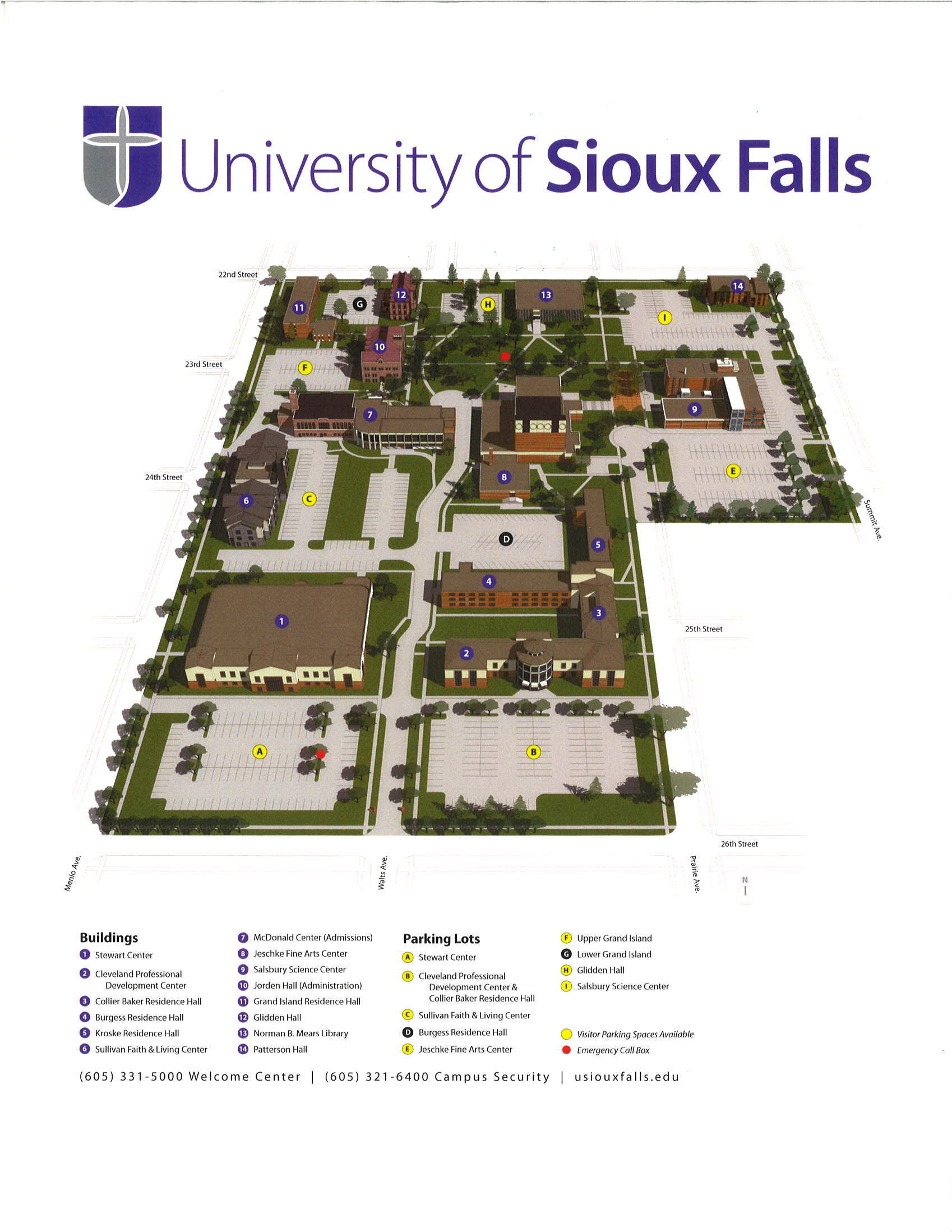 USF Campus Map | Sioux Empire Water Festival    March 13 14, 2019